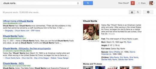 Convo 60 520x232 More fun with Knowledge Graph: Googling Chuck Norris uncovers a very interesting fact