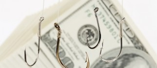 Fishing Hook and Dollar
