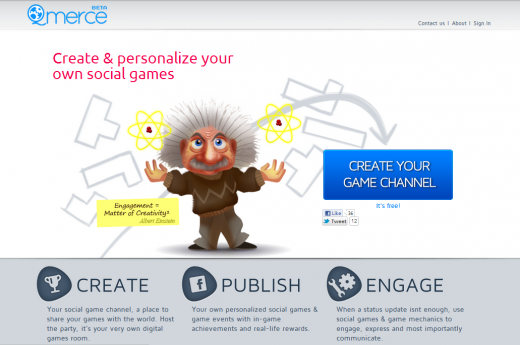 Qmerce homepage 520x345 Create your own social games with Qmerce