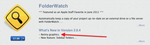 Screen Shot 2012 06 08 at 10.50.36 520x156 Retina ready apps begin to appear in Apples Mac App Store ahead of WWDC