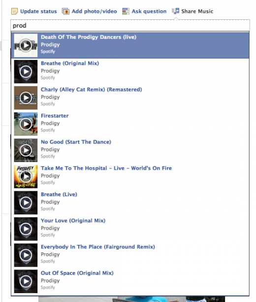Screen shot 2012 06 13 at 10.21.09 520x614 Facebook begins testing new Share Music feature in News Feed Share box