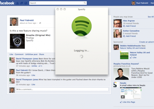 Screen shot 2012 06 13 at 10.22.05 520x367 Facebook begins testing new Share Music feature in News Feed Share box