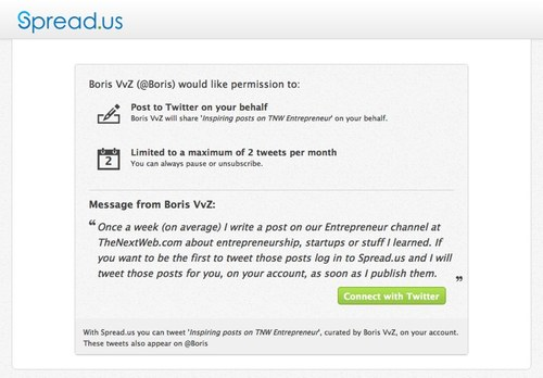 Spread.us2  Spread.us: TNW Labs relaunches its social mailing list for Twitter
