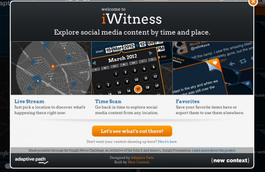 a5 520x338 TNW Pick of the Day: iWitness filters Twitter and Flickr content by time and location