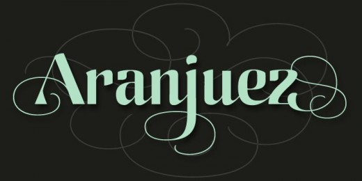 aranjuez 01.png 520x260 27 new typefaces released last month that you need to know about