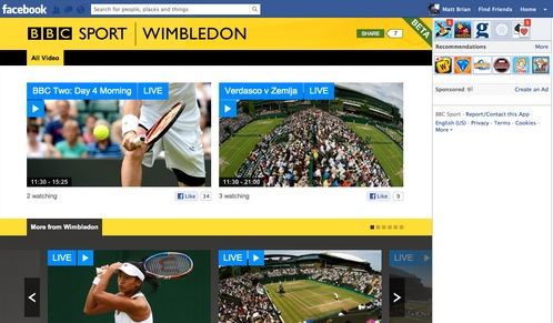 bbc sport fb app The BBC takes to Facebook to stream Olympics, Wimbledon and other live events with new Sports app