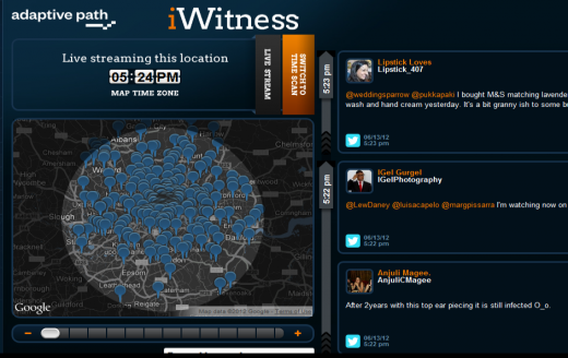 c2 520x328 TNW Pick of the Day: iWitness filters Twitter and Flickr content by time and location