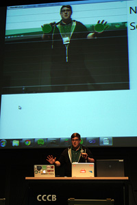 kinect dancing Music Hackday at Sónar provides the link between technology and top tracks