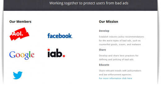 sbw1 520x275 Google, Twitter and Facebook rally to fight bad ads, malware and online trust issues