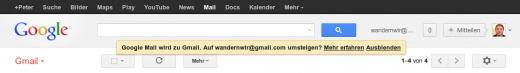switch 520x73 Google Mail no more: German users can switch to a Gmail.com email address today