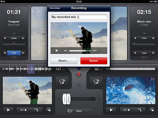 vjay2 Mix and mashup music videos on your iPad with Vjay