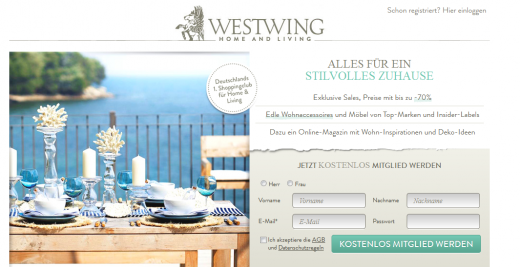 ww 520x267 German high end shopping club WestWing closes $50m funding round led by Summit Partners