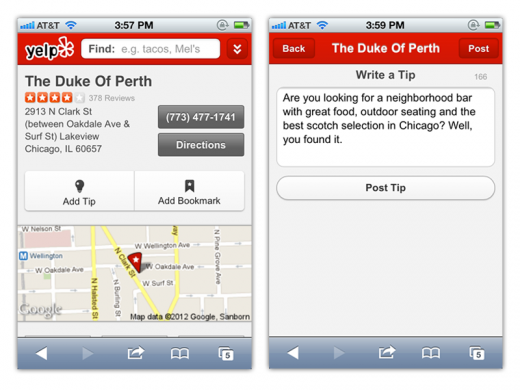 6a00d83452b44469e2017743a53183970d 520x390 Yelp updates iPhone, iPad and Web apps, overhauls business pages, adds pull to view tweaks and more
