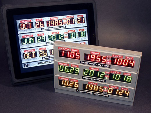 Compared 520x390 Back to the Future: Build your own DeLorean time clock