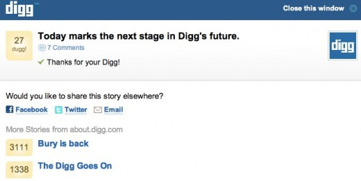 Digg The Latest News Headlines Videos and Images 520x261 Betaworks has bought Digg to combine with News.me. The price? A mere $500K (Updated)