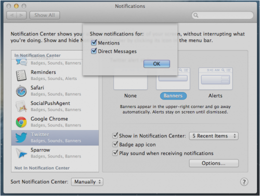Notification Preferences Options twitter 520x392 TNW Review: OS X 10.8 Mountain Lion