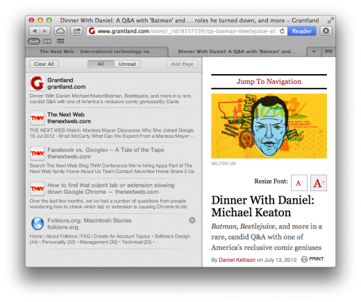 Reading List readunread 520x436 TNW Review: Safari 6.0 is the best version of Apples browser yet