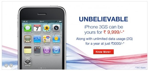 Screen Shot 2012 07 20 at 6.57.22 AM 520x250 Apples aggressive expansion strategy continues with iPhone 3GS for just $236 on Indias Aircel