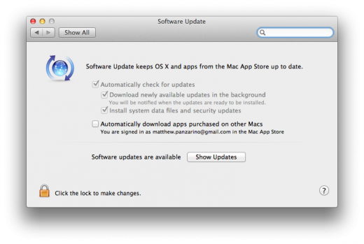 Software Update Pane 520x349 TNW Review: OS X 10.8 Mountain Lion