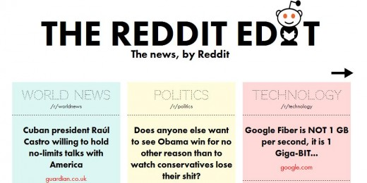 a26 520x260 The Reddit Edit reels in the top links from select Reddit categories, and makes it look good too