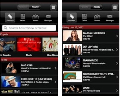 a3 Live Nation launches its live music ticket app for Android devices