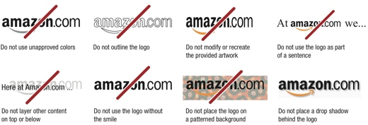 amazon logo There's no 'F' in Foursquare, tweets have a capital 'T': The rules that protect tech company brands