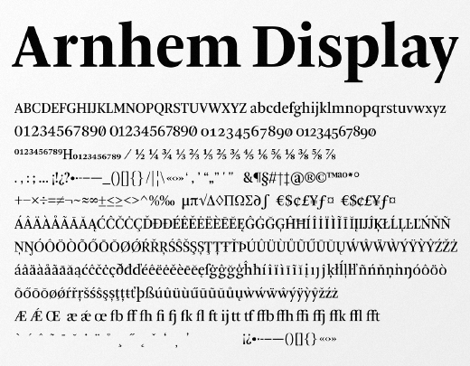 arnhem display 30 new typefaces released last month that you need to know about (July)