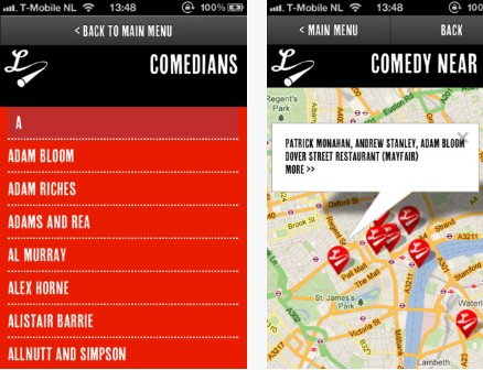 b5 Laugh Louder: This iOS app helps you search for live comedy shows around the UK