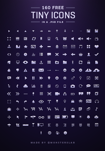 full Size matters: 21 Gorgeous petite icon sets crafted by pixel perfect designers