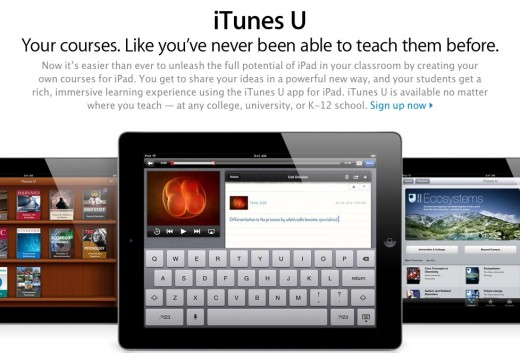 itunes u 520x353 Apples iTunes U now lets teachers create their own courses for iPad