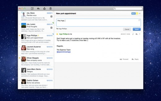 mzl.emcwtcqn 520x325 The wonderful Sparrow mail app is Mountain Lion ready with Retina and Notification Center support