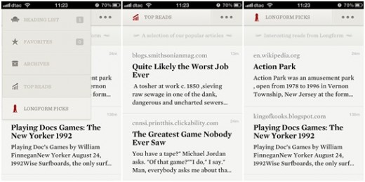 readability 520x260 Updated Readability for iOS boosts content discovery with Top Reads and Longform Picks features