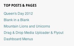 top posts pages example WordPress.com releases a bevy of new social and linking widgets for its bloggers