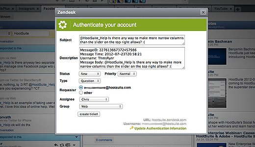 zenhoot520 HootSuite plugs Evernote, ZenDesk and Storify into its social App Directory