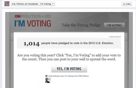 2 U.S. Politics on Facebook 520x335 Facebook launches its Im Voting App with CNN