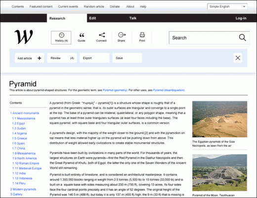 21 520x401 This creative agency thinks it can redesign Wikipedia to be more usable, and its on to something