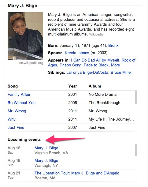 Convo 120 1 1 Googles Knowledge Graph helps you find concerts to go to with Upcoming Events