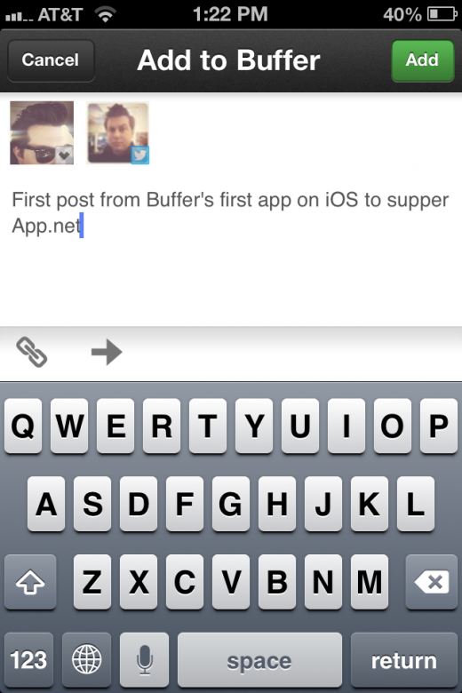 Photo Aug 22 1 22 04 PM 520x780 Buffer becomes the first app in Apples iOS App Store to support App.net
