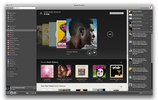 SPFY 520x331 Spotify Radio for desktop gets thumbs up/down feature, letting you sync the songs you like across devices
