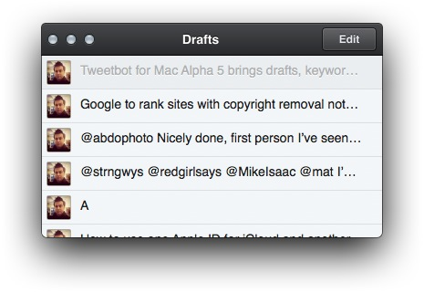 Screen Shot 2012 08 13 at 9.55.05 AM Tweetbot for Mac Alpha 5 brings drafts, keyword muting, Storify and Gifs, final version for Lion