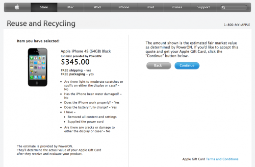 Screen Shot 2012 08 29 at 09.32.59 520x341 Apple will now give you up to $345 for your old iPhone 4S