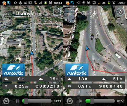 b1 Runtastic for Android now lets you replay your run in 3D video, with Google Earth integration