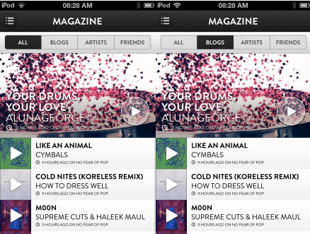b9 TNW Pick of the Day: Shuffler.fm takes its Flipboard for music discovery app to the iPhone