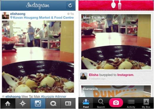 burpple IG 520x367 Food journal app Burpple now allows posting from Instagram and is served in Japanese