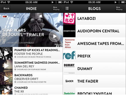 f1 TNW Pick of the Day: Shuffler.fm takes its Flipboard for music discovery app to the iPhone