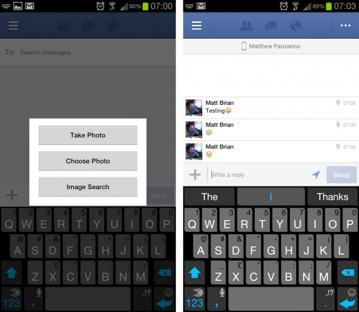 facebook android 520x452 Facebook for Android now allows you to add your own events, brings photos and emoji to messages