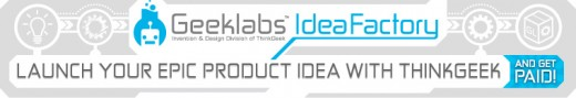 geeklabs idea factory header 1 520x89 ThinkGeek is now accepting product idea submissions, will share a 10% cut of retail sales