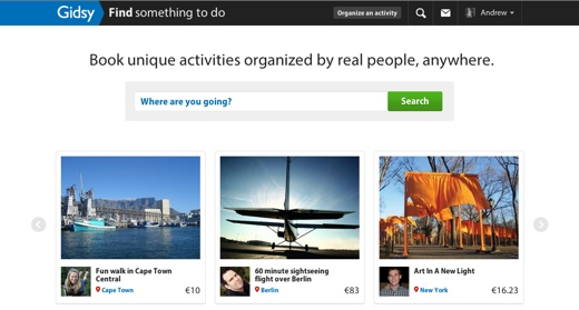 gidsy Activity booking startup Gidsy goes global, adds search functionality and social features
