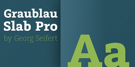 graublau slab 25 Brand new typefaces released last month that you need to know about (August)