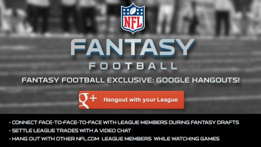 hangoutsnfl 520x292 Hangouts breaks out of Google+, will power NFL.com fantasy football experience